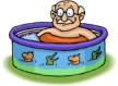 Grandad in a bath